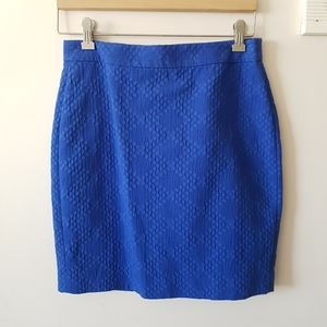4P Petite Blue Pencil Skirt Banana Republic